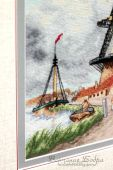 Схема для вышивки крестом Ветряная мельница. Отшив