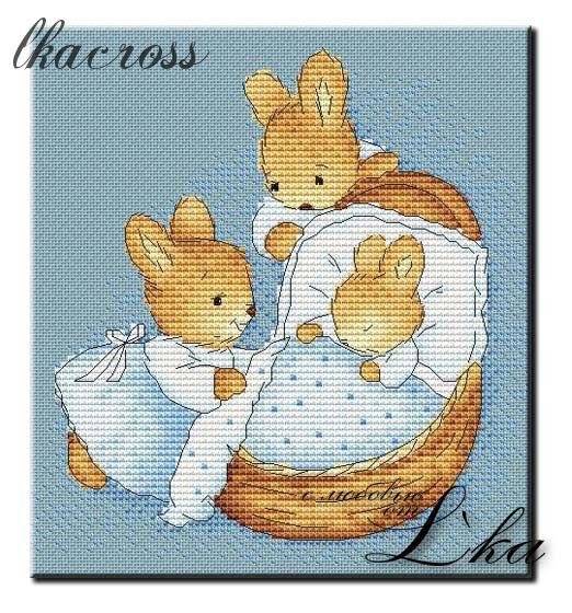 Схема для вышивки крестом Littlt Bunny