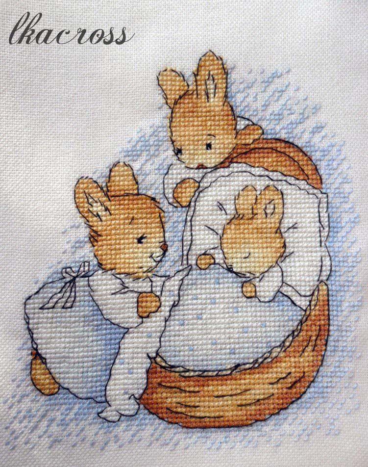Схема вышивки крестом Little Bunny