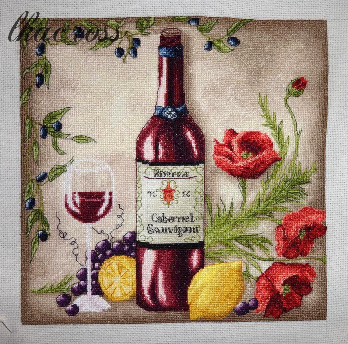 Vine Riserva - Red. Схема для вышивки крестом. Отшив.