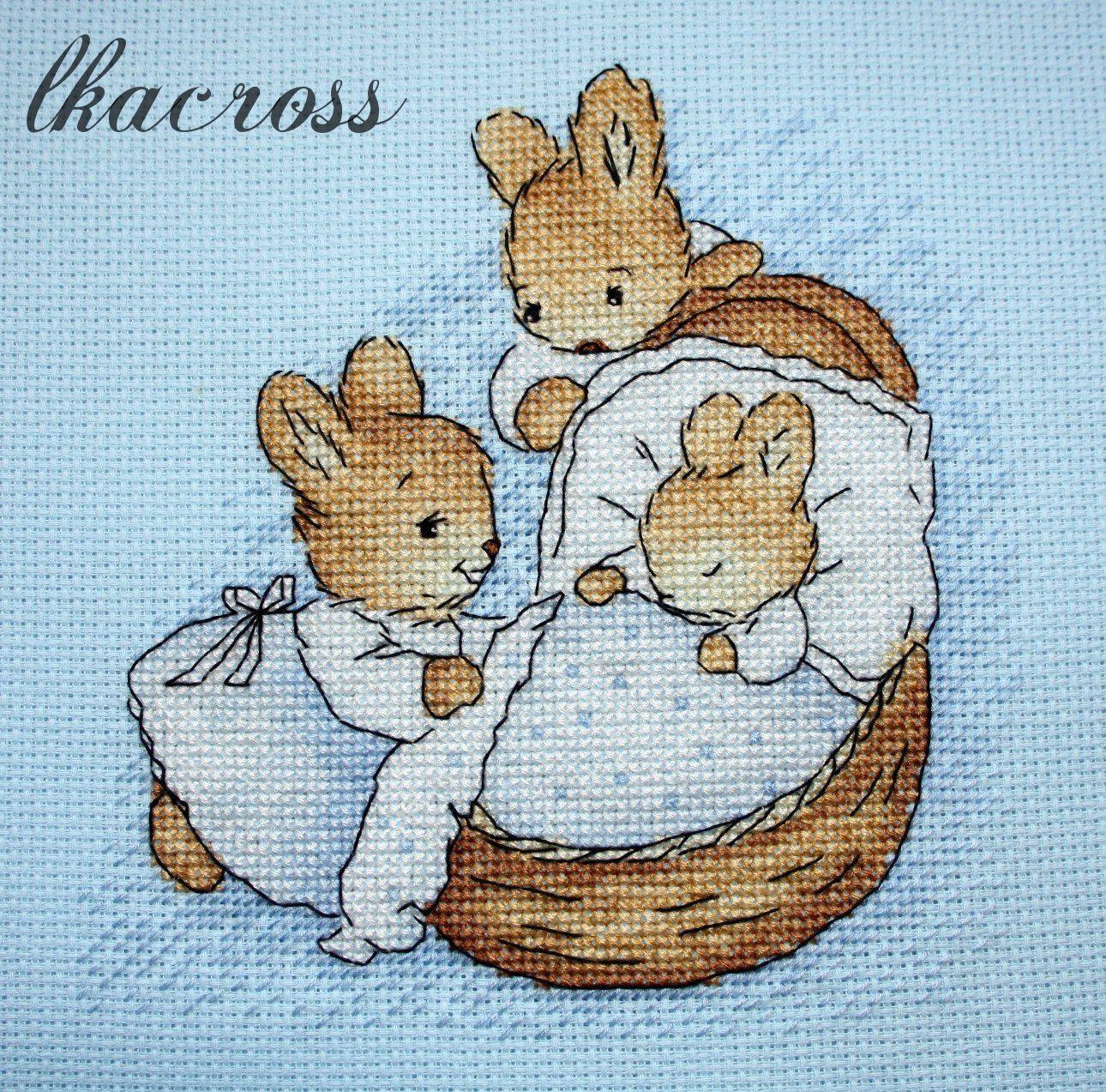 Схема для вышивки Little Bunny. Отшив.