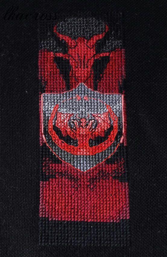 Схема - закладка для вышивки крестом Дом Таргариенов. Отшив.