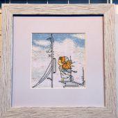 Схема для вышивки крестом Нежные иллюстрации - На пристани. Отшив.
